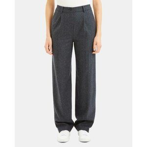 NWT $325 Theory Womens 8 Wool-Blend Pleated Pants
